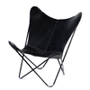 BUTTERFLY CHAIR · A S S A M B L E · BLACK LEATHER