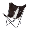 BUTTERFLY CHAIR · A S S A M B L E · COWHIDE