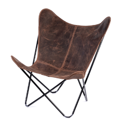 BUTTERFLY CHAIR · A S S A M B L E · CHOCOLATE