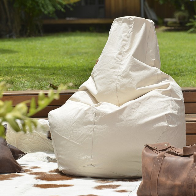 PEAR SHAPE NATURAL CANVAS BEAN BAG