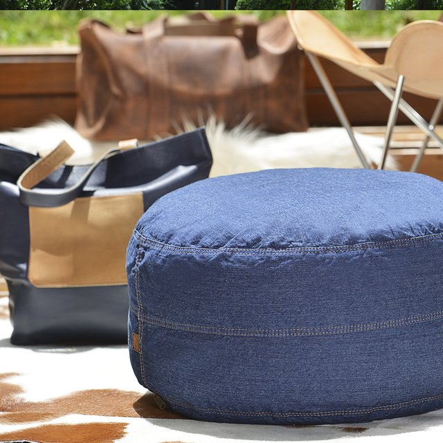 CYLINDER DENIM BEAN BAG - buy online