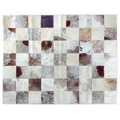 GREY BRINDLE MIXED COWHIDE RUG