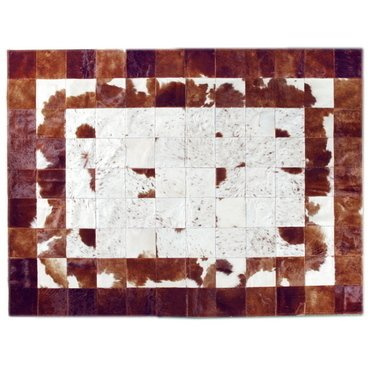 MEDIUM BRINDLE CONCENTRIC COWHIDE RUG - buy online