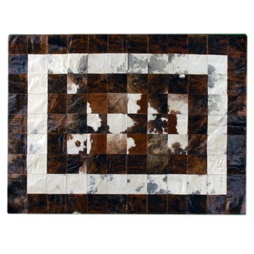 CONCENTRIC GREY AND BROWN COWHIDE RUG on internet