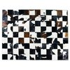BLACK AND WHITE MIXED COWHIDE RUG on internet
