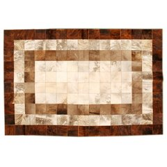 LIGHT TABBY CONCENTRIC COWHIDE RUG - buy online