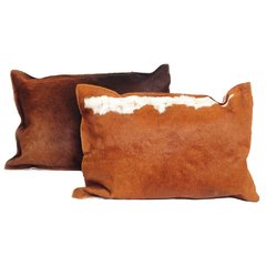 BROWN COWHIDE PILLOW 50 x 70 CM