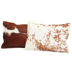 BROWN COWHIDE PILLOW 35 X 50