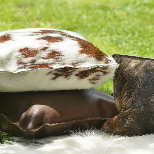 BROWN COWHIDE PILLOW 50 x 50 - buy online