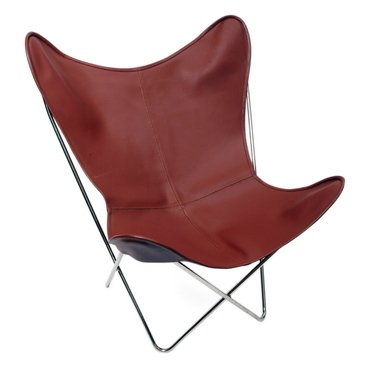 TAINTED LEATHER BUTTERFLY CHAIR - buy online