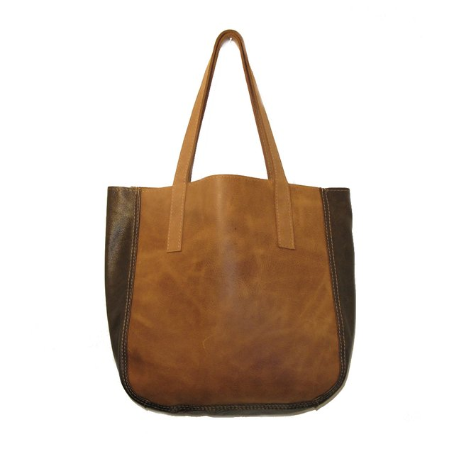 LEATHER BAG WITH BELLOW