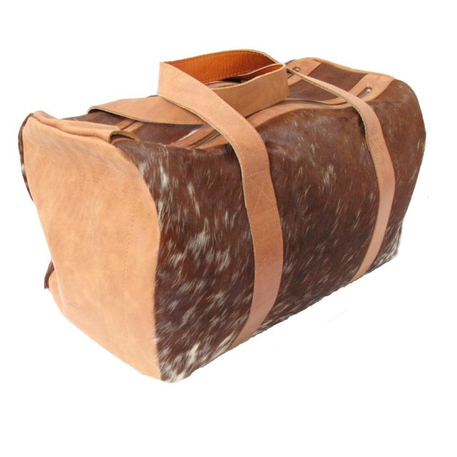 LEATHER TRAVEL BAG WITH HAIR