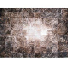 DEGRADE BLACK BRINDLE COWHIDE RUG - buy online