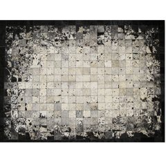BLACK SPLASHED DEGRADE COWHIDE RUG