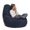 pear shape blue denim beanbag