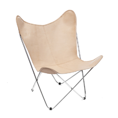 BUTTERFLY CHAIR · L E A T H E R · NATURAL - buy online