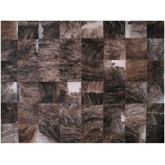BLACK BRINDLE MIXED COWHIDE RUG - buy online