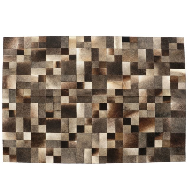 SHIMMERED MULTIFORM COWHIDE RUG