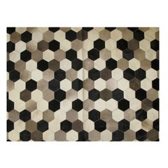 HEXAGONAL COWHIDE RUG