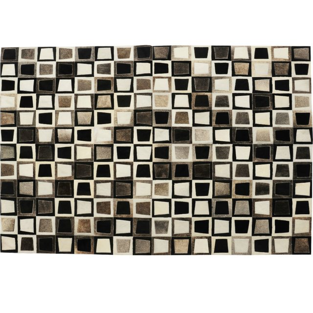 GREY TRAPEZOID COWHIDE RUG on internet