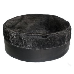 BLACK COWHIDE CYLINDER BEAN BAG on internet