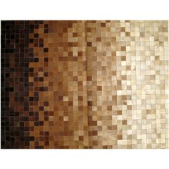 PIXELED BROWN SCALE COWHIDE RUG - buy online