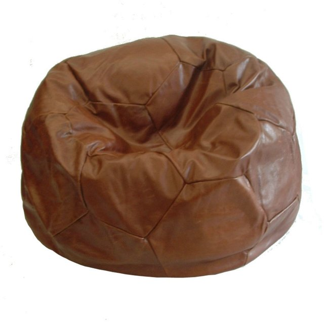 FOOTBALL LEATHER BEAN BAG on internet