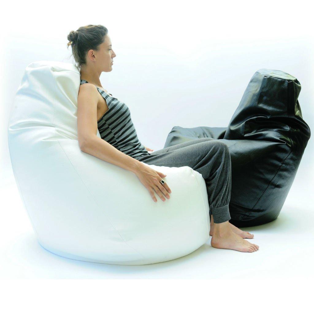 Miraculous Pear Shape Leatherette Bean Bag Ncnpc Chair Design For Home Ncnpcorg