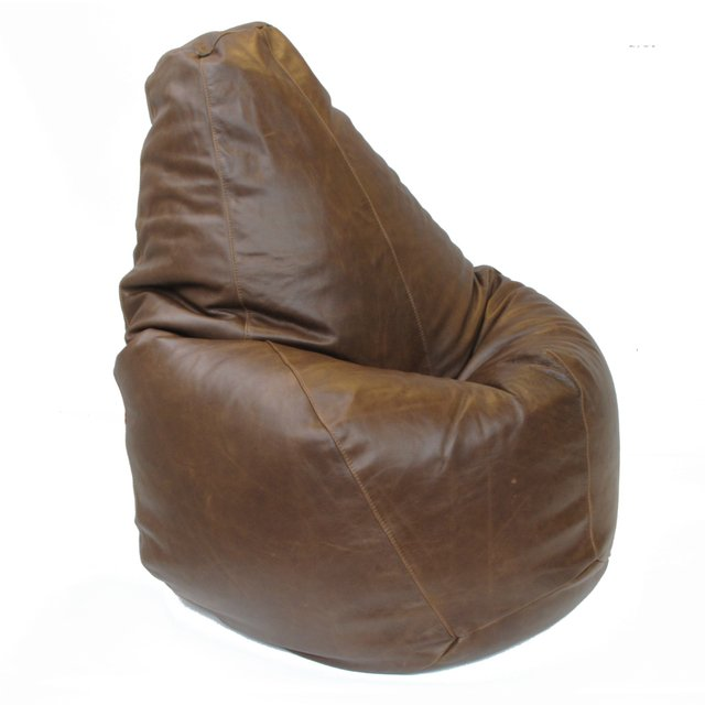 PEAR SHAPE LEATHER BEAN BAG - CALMA CHICHA