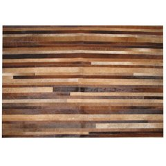 BROWN STRIPES COWHIDE RUG