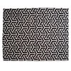 Y BLACK WHITE COWHIDE RUG