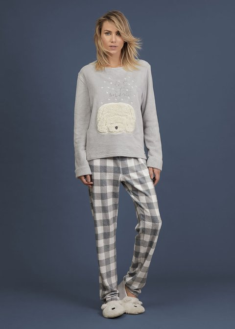 Pijama feminino fleece - snow bear