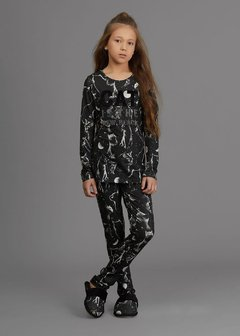 Pijama slim kids - Moon Cats - Pijamania - Loja Virtual de Pijamas Adulto e Infantil, Camisolas e +