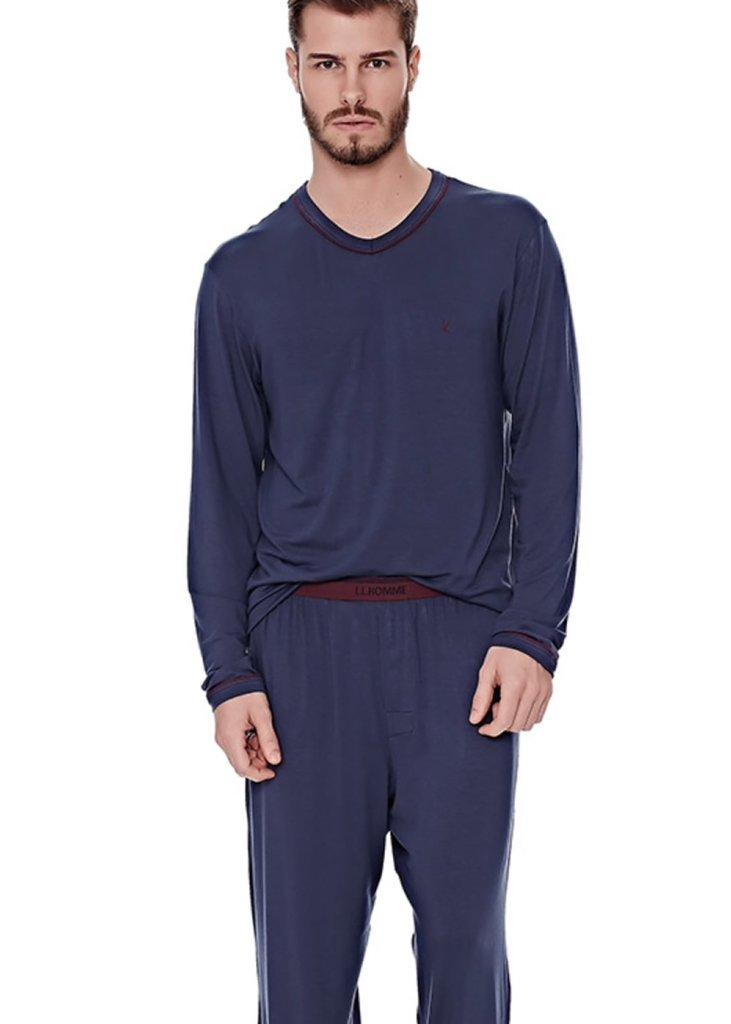 ab56715e617588 Pijama Masculino com embalagem protetora.