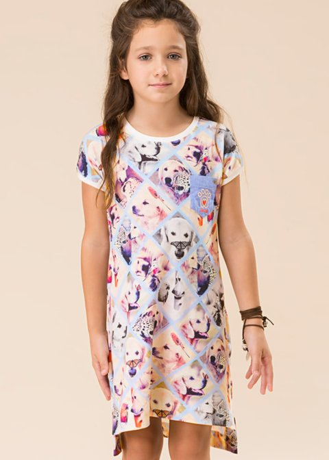 Camisola infantil - camisão jungle kids