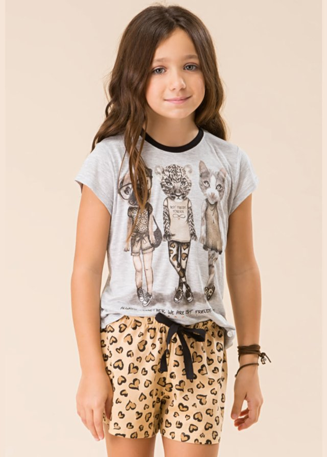 Pijama curto infantil - Lovely girls kids - comprar online
