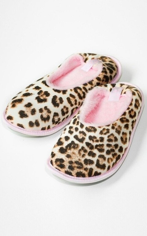 Chinelo de quarto - animal print
