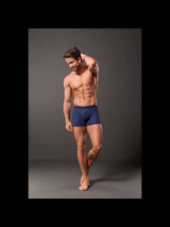 BOXER MASCULINA COTTON MARINHO - UP MAN