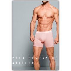 BOXER MASCULINA UP MAN - ROSA CLARO