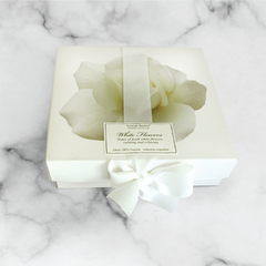 Box White Flowers x4