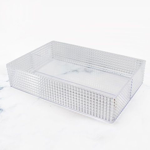 Cesta diamante rectangular con división
