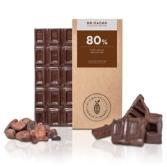 Chocolate 80% cacao con xilitol DR. CACAO - 70g