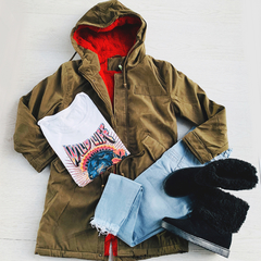 PARKA JONAS Red