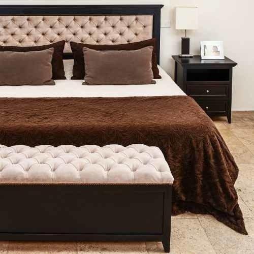 Banqueta ba l pie de cama mora de 120x40cm - Pie de cama ...
