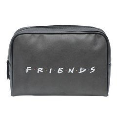 NECESSAIRE PU WB FRIENDS HOW YOU DOIN FD PRETO 23,5x6,5x17cm