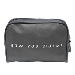 NECESSAIRE PU WB FRIENDS HOW YOU DOIN FD PRETO 23,5x6,5x17cm - CLUBE SKOOB