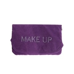 NECESSARIE SHINY MAKE UP ROXA EM VELUDO - URBAN - 20X14 CM - CLUBE SKOOB