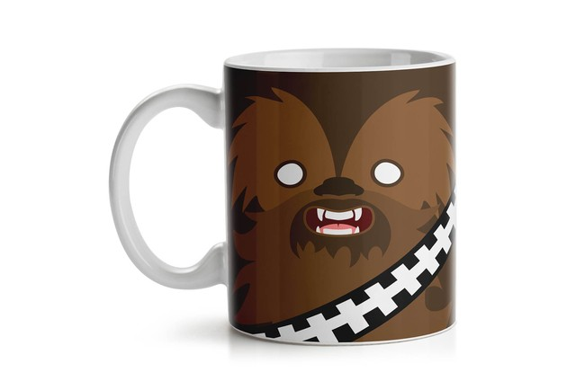 Caneca Geek Side Faces - Chill Bacca