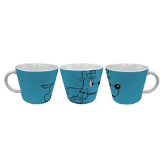 CANECA JUMBO PORCELANA TM BIDU ATTACKING AZUL