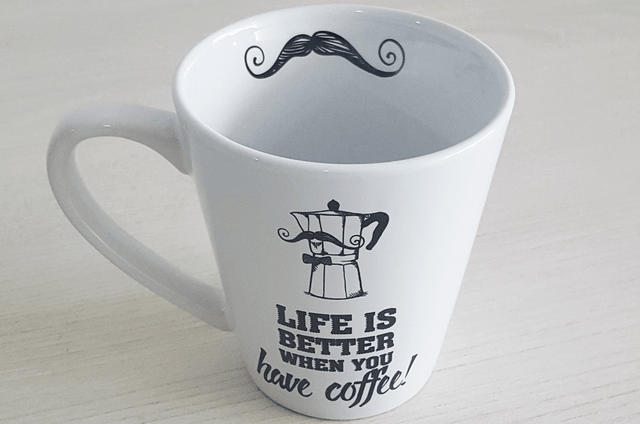 CANECA CÔNICA - LIFE IS BETTER WHEN YOU HAVE COFFEE | UATT? - comprar online